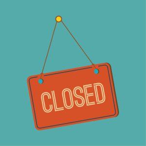 Closed geschlossen Laden Geschäft Store Shop