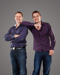 Käuferportal-Gründer Robin Behlau und Mario Kohle.