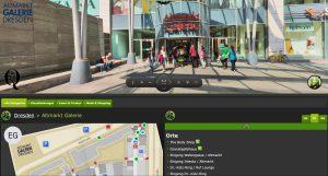 Altmarkt Galerie Dresden AG - Webseite Screenshot VIRTUELLE 360 CENTERTOUR