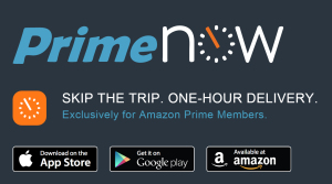 Amazon Prime Now Webseite