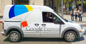 Google Express delivery van SDD Grocery - shutterstock 278997614