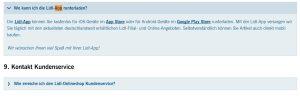Lidl App Frage Webseite