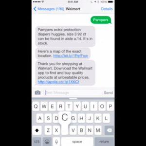 Walmart Simple Text - Messenger Chat