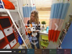 Mit aufwändigen 360-Grad-Videos erzeugt Ikea online Kaufanreize