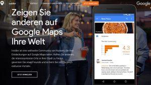 Google Insiderprogramm Local Guides