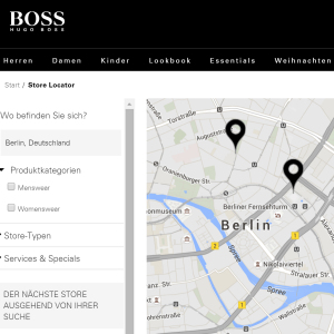 Hugo Boss Store Locator