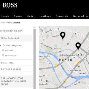 Hugo Boss Store Locator