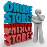 Online Offline Store E-Commerce Handel Store  - shutterstock 272307344