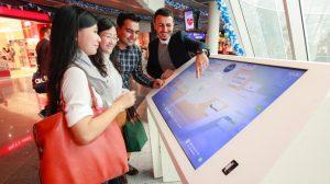 Fraport Indoor Navigation Touchscreen interactive airport