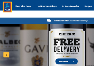 Aldi Onlineshop UK Wein