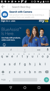 Best Buy Android-App Slyce Screenshot