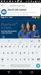 Best Buy Android-App Slyce Screenshot