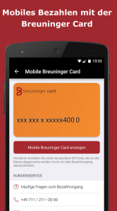 Breuninger App Mobile Payment Screenshot