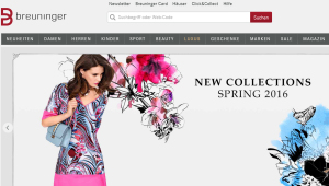 Breuninger Webseite Screenshot