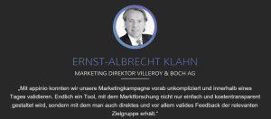Ernst-Albrecht Klahn von Villeroy & Boch bei Appinio