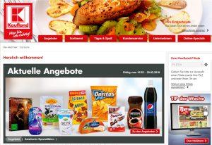 Kaufland Webseite Screenshot