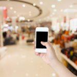 Mobile Smartphone Handel Laden Shopping Mall store shutterstock_335281052