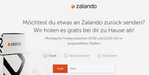Zalando Abholung Retouren Köln