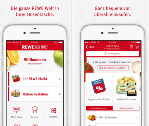 Rewe App Screenshot