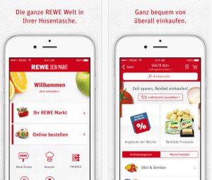 Rewe App Screenshot