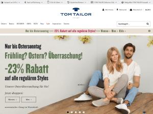 Tom Tailor Webseite Screenshot