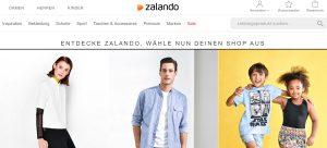 Zalando Webseite Screenshot
