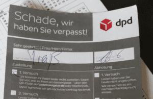 DPD-Benachrichtigung