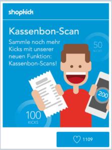 Shopkick-Kassenbon-Scan