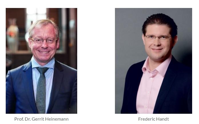 Prof Dr Gerrit Heinemann und Frederic Handt